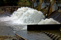 Scrivener Dam flood gates 2
