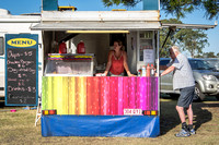 Rainbow food trailer
